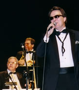 singer performing with the kim kelly orchestra